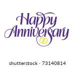 happy anniversary with rings... | Shutterstock .eps vector #73140814
