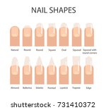 nail formes. female manicure.... | Shutterstock .eps vector #731410372