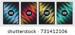 cover design template. vector... | Shutterstock .eps vector #731412106