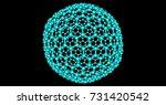 giant fullerene molecule c720 ...   Shutterstock . vector #731420542