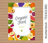 fruits menu background. healthy ... | Shutterstock .eps vector #731421382