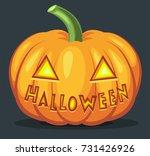 halloween pumpkin with ... | Shutterstock .eps vector #731426926