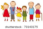 big family  no gradients  | Shutterstock .eps vector #73143175