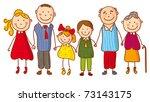 big family  no gradients  | Shutterstock .eps vector #73143175