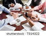image of different hands at... | Shutterstock . vector #7314322