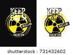 radiation concept. vector... | Shutterstock .eps vector #731432602