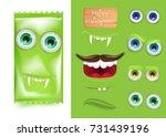 halloween emoji creator... | Shutterstock .eps vector #731439196