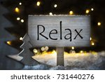 white christmas tree  text relax   Shutterstock . vector #731440276
