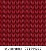 seamless knitting pattern in... | Shutterstock .eps vector #731444332