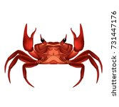 Illustration Of Red Crab...