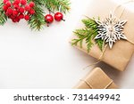 christmas background with xmas... | Shutterstock . vector #731449942