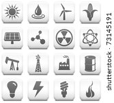 ecology icon on square black...   Shutterstock .eps vector #73145191