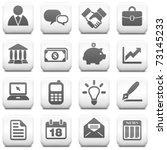 economy icon on square black...   Shutterstock .eps vector #73145233