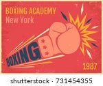 vector vintage poster for a... | Shutterstock .eps vector #731454355