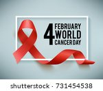 realistic red ribbon  world... | Shutterstock .eps vector #731454538