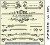 vector set  calligraphic design ... | Shutterstock .eps vector #73145593