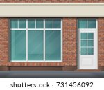 store front with large... | Shutterstock .eps vector #731456092