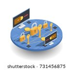 cryptocurrency investments and... | Shutterstock .eps vector #731456875