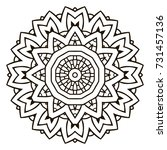 mandala. black and white... | Shutterstock . vector #731457136