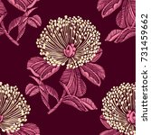 vintage seamless pattern with... | Shutterstock .eps vector #731459662