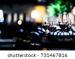 luxury table settings for fine... | Shutterstock . vector #731467816