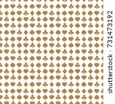 seamless pattern with card... | Shutterstock .eps vector #731473192