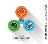 fidget spinner with four element   Shutterstock .eps vector #731476936
