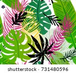 seamless trendy pattern with... | Shutterstock .eps vector #731480596