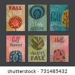 vector collection of autumn... | Shutterstock .eps vector #731485432