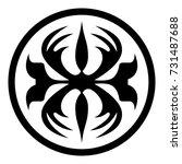 ossetian ornament. ornamental... | Shutterstock .eps vector #731487688