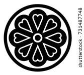 ossetian ornament. ornamental... | Shutterstock .eps vector #731487748