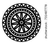 ossetian ornament. ornamental... | Shutterstock .eps vector #731487778