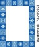 Snow Flakes Blue Christmas...
