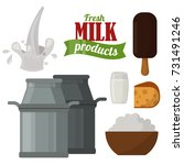 dairy milk products organic... | Shutterstock .eps vector #731491246
