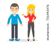 man and woman. isolated cartoon ... | Shutterstock . vector #731492476