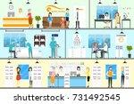 eye correction clinic.... | Shutterstock . vector #731492545
