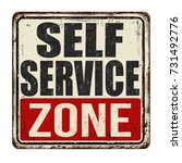 self service zone vintage rusty ... | Shutterstock .eps vector #731492776