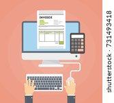 invoice concept illustration.... | Shutterstock . vector #731493418