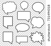 speech bubbles vector set | Shutterstock .eps vector #731494318