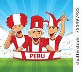 peru flag. cheer football... | Shutterstock .eps vector #731497432