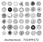 various trees  bushes and... | Shutterstock . vector #731499172