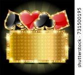 casino gold empty banner | Shutterstock . vector #731500195