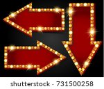 arrow gold banners | Shutterstock . vector #731500258