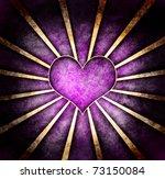 Dark Grunge Purple Heart With...