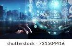 businessman on blurred... | Shutterstock . vector #731504416