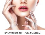 beautiful woman face portrait... | Shutterstock . vector #731506882