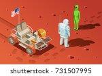 astronauts space planet... | Shutterstock .eps vector #731507995