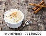 arroz con leche. rice pudding... | Shutterstock . vector #731508202