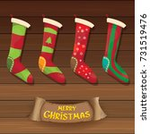 vector cartoon cute christmas...   Shutterstock .eps vector #731519476