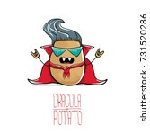 vector funny cartoon cute...   Shutterstock .eps vector #731520286